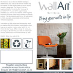 Brochure design for WallArt South Africa.