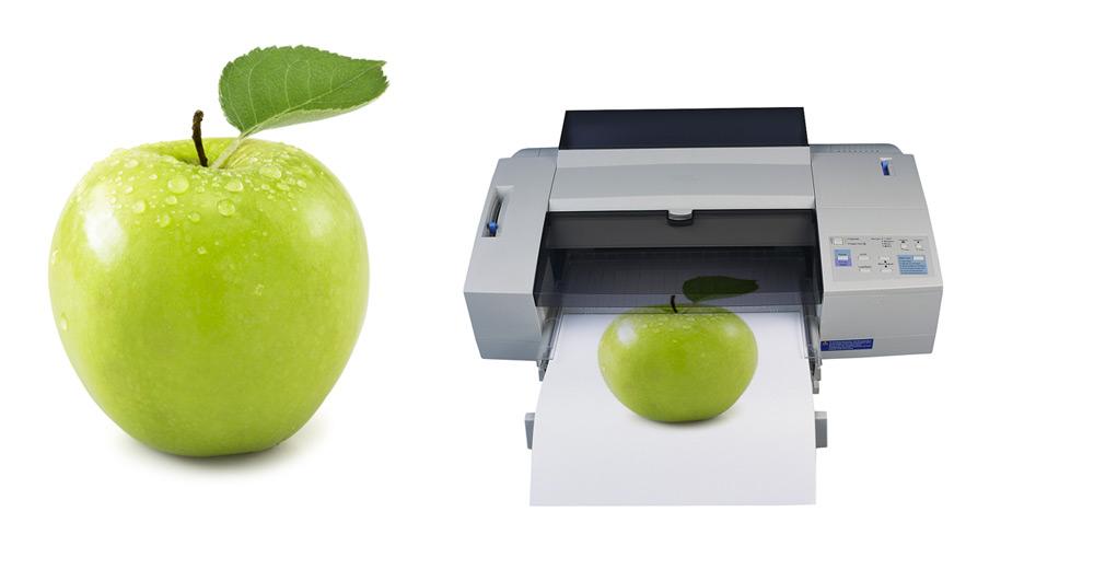 Printing-apples